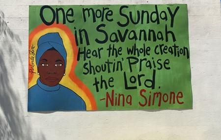 Portrait of Nina Simone, by Panhandle Slim