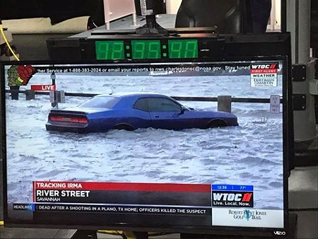 The infamous Blue Dodge during Irma