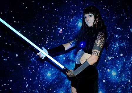 Nicole Edge at Rock 'n' Roll Prom's galactic edition. - PETERSON WORRELL