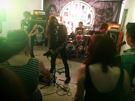 Savannah metal band Black Tusk at an all-ages show at Sulfur Studios.