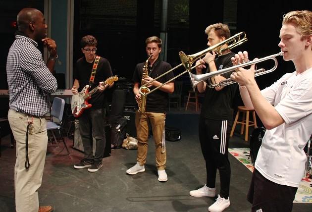 Michael Nestor with the Savannah Arts Horns