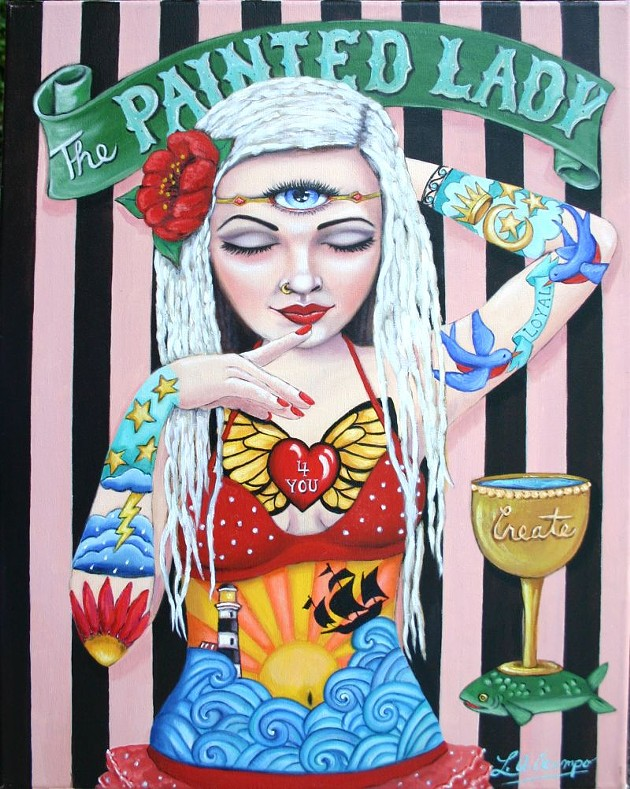 Queen of Cups painting by Lisa Ocampo.