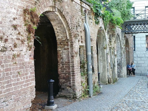 The Cluskey Storage Vaults, where it's suspected slaves were housed.