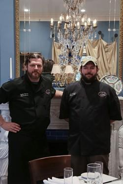 Chefs McLain and Landrigan.