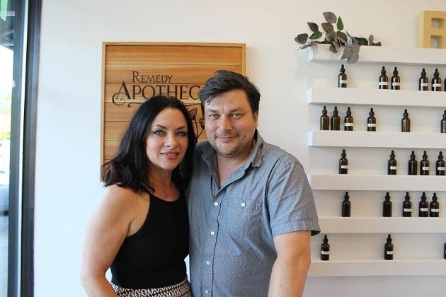 Debra Brill and Ethan Riker.