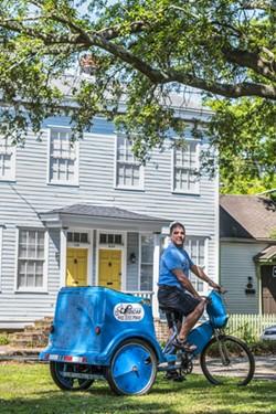 Rusty Browne of Savannah Pedicab - PHOTO BY GEOFF L. JOHNSON