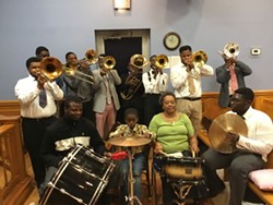 The Savannah United House of Prayer Shout Band.
