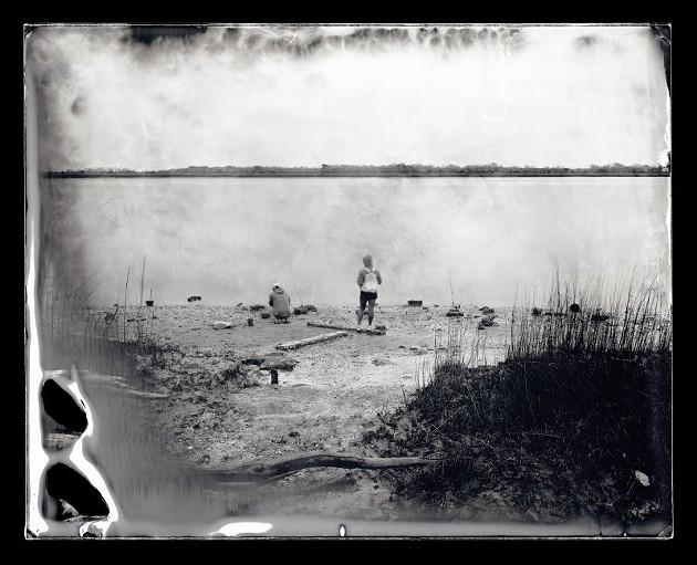 Fishing at McQueen's Island, Savannah, Georgia, 2014 by Michael Kolster.