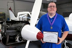 Savannah Tech Aviation Maintenance student Joshua Clifton recently won a scholarship from the National Technical Honor Society.