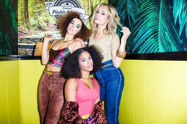 Models Lily Esh, Chloe Leonce and Erica C. Jarman pose at The Original Pinkie Masters. Styled by Jarman with House of Strut clothing. Hair by Averil Hull of JW Salon. Makeup by MELLY. Photo by Jeremiah Hull.