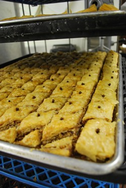 Baklava is just one of the many delicious treats baked and cooked by dedicated congregants.