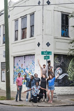 Starland Mural Project artists. Photo by Geoff L. Johnson.