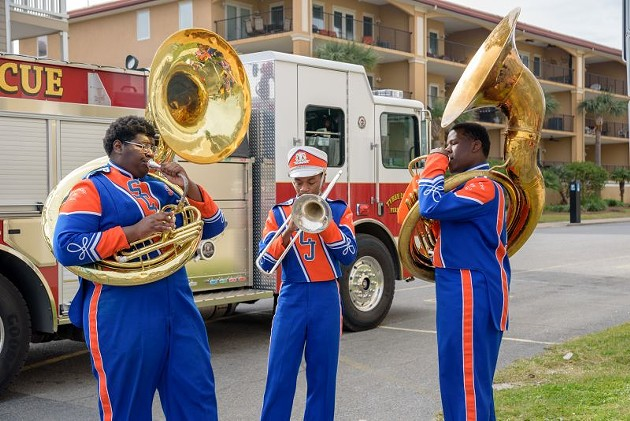 Savannah State's marching band at last year's TybeeMLK festivities.