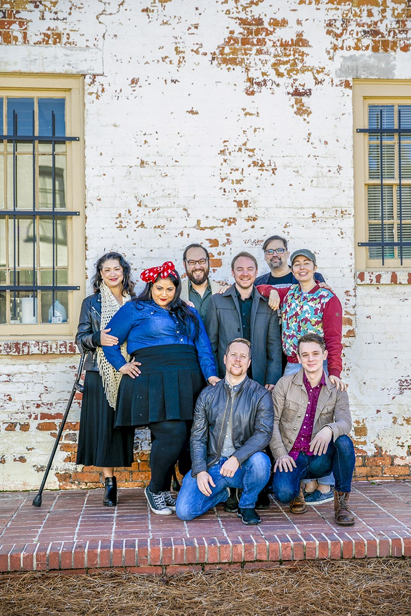 L-R: JinHi Soucy Rand, Jayme Tinti, Chris Stanley, David Poole, Trey Norris, Travis Coles, Brianne Halverson, and Chris Soucy. - PHOTO BY MEGAN JONES