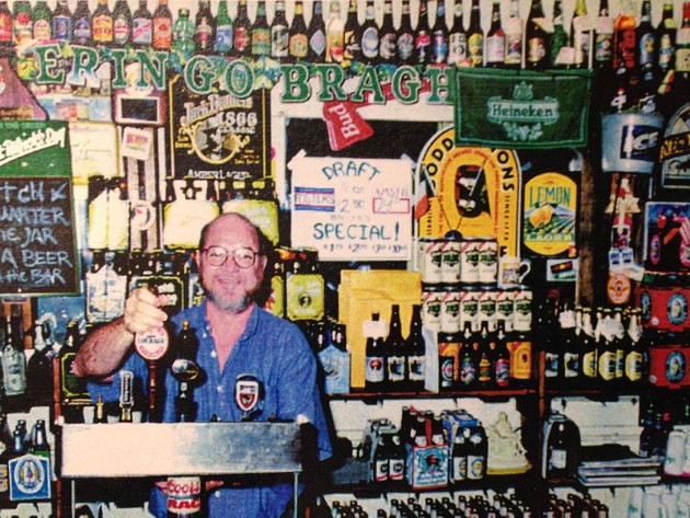 Pub founder Malcolm O'Connell at a previous location.
