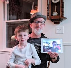Markus Kuhlmann, Jen Jenkins, and their son