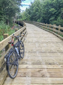 Construction of Phase 2A of the Truman Linear Park Trail, which runs from Lake Mayer Community Park north to DeRenne Avenue, is nearing completion.