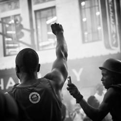 """#1960 Now (#ATLisReady and Black Lives Matter Atlanta Chapter Protest Shootings of Philando Castile and Alton Sterling, Atlanta, GA)"" by Sheila Pree Bright, 2016. Copyright of the artist and courtesy of Laney Contemporary, Savannah, and Jackson Fine Art, Atlanta."
