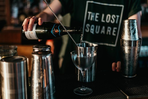 Champagne will flow profusely during the New Year's Eve celebration at The Lost Square. - COURTESY OF THE LOST SQUARE