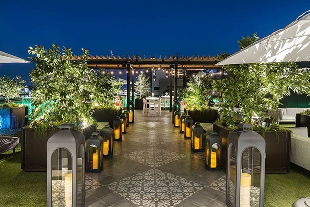 Plant Riverside's Myrtle & Rose Rooftop Garden is hosting a speakeasy-themed NYE party. - COURTESY OF PLANT RIVERSIDE