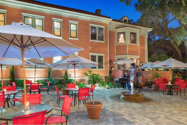 The spacious gardens of La Scala will provide plenty of room for social distancing during New Year's Eve celebrations. - COURTESY OF LA SCALA RISTORANTE