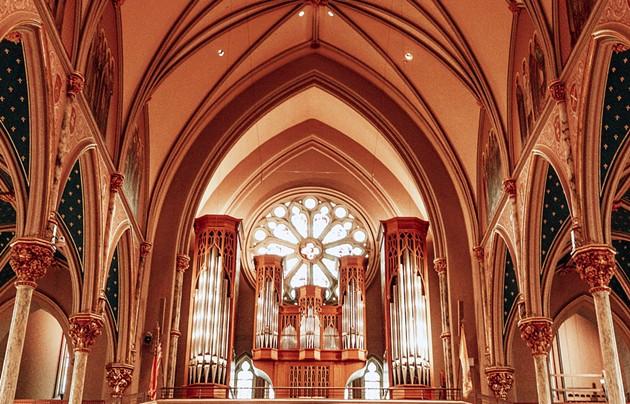The recently refurbished organ at Savannah's Cathedral Basilica. - ADRIANA IRIS BOATWRIGHT