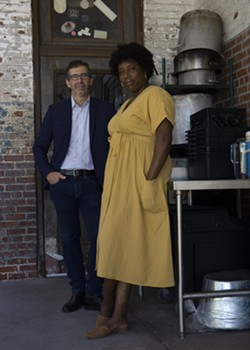 The partners behind The Grey, John O. Morisano (left) and Mashama Bailey, have published a new memoir, 'Black, White, and The Grey'. - MARCUS KENNEY