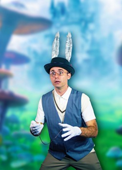 """Ryan Henderson plays the White Rabbit in the new Savannah Stage Company production of """"Alice in Wonderland"""". - COURTESY OF THE SAVANNAH STAGE COMPANY"""