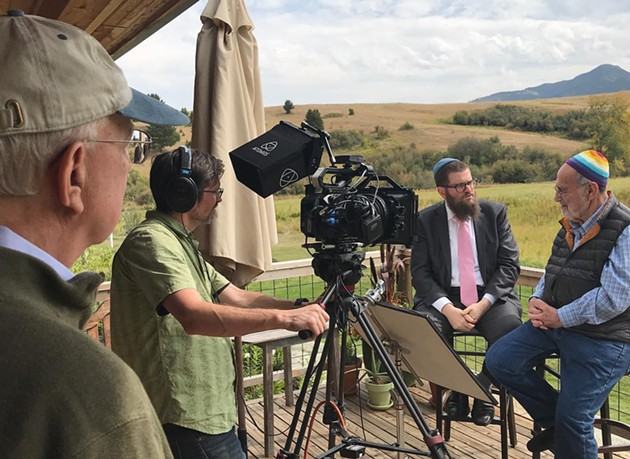 """A scene from the filming of """"The Rabbi Goes West,"""" a documentary featured in the 2021 Savannah Jewish Film Festival. - COURTESY OF """"THE RABBI GOES WEST"""""""