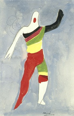 Costume design for a Spinning Top in Jeux d'Enfants' by Joan Miró. - PHOTO COURTESY OF TELFAIR MUSEUMS