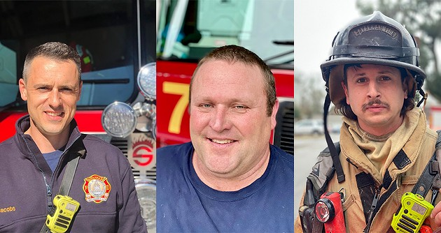 From left: Capt. Gregory Jacobs, Engineer Ben Spence, and Advanced Firefighter Lucas Abrunzo. - PHOTOS COURTESY OF SAVANNAH FIRE