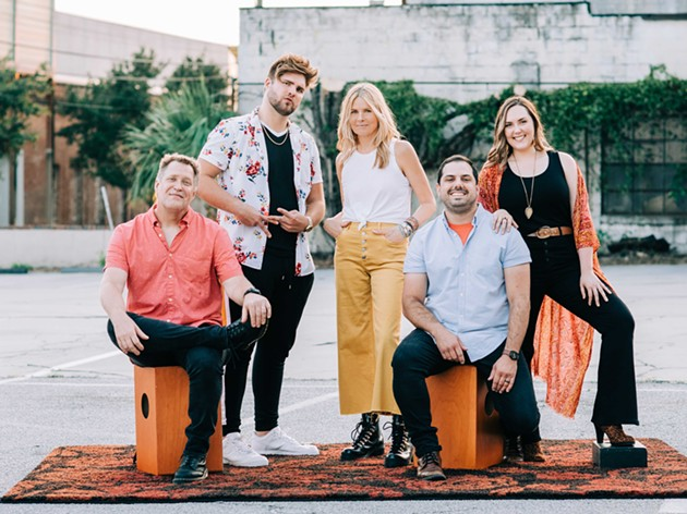 The (family) members of Tell Scarlet, from left: Jeff Davis, Will Davis, Mary Davis, Cory Shuman, and Julia Shuman. - COURTESY OF TELL SCARLET