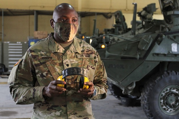 Spc. Orfeo R. Joseph is a chemical biological radiological, nuclear specialist assigned to 92nd Chemical Company, 83rd CBRN Battalion, on Fort Stewart. - SPC. DANIEL THOMPSON