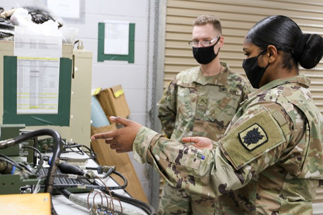 Staff Sgt. Nicole Allen is an information technology specialist assigned to the 63rd Expeditionary Signal Battalion at Fort Stewart. - SPC. DANIEL THOMPSON