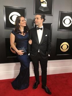 Nicole Zuraistis and her husband Dan Pugach at the 2019 Grammy Awards. - PHOTO COURTESY OF NICOLE ZURAITIS