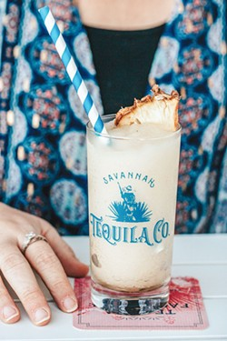 Corazon De Chai, a frozen cocktail, available at the Savannah Tequila Company. - PHOTO BY LINDY MOODY