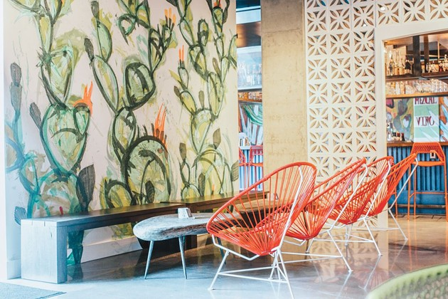 The Savannah Tequila Company in Plant Riverside features colors and patterns reminiscent of our North American neighbors' eateries. - PHOTO BY LINDY MOODY