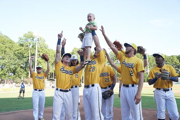 Fans and Savannah Bananas players celebrate at historic Grayson Stadium. - PHOTO COURTESY OF THE SAVANNAH BANANAS