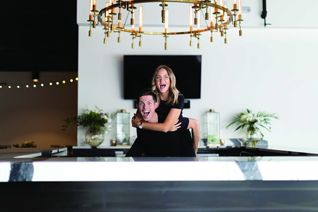 Matt and Elise Higgins share their story of uprooting their lives to return to their dream of living in Savannah. - PHOTO COURTESY OF ORIGIN COFFEE BAR