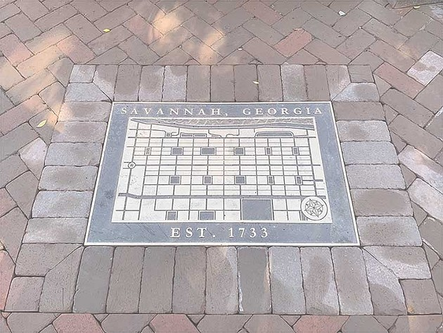 A finished medallion serves to show progress in the Broughton Streetscapes Presentations on the City's website. - PHOTO COURTESY OF THE CITY OF SAVANNAH