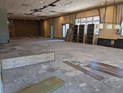The 5 Spot posts construction photos to their social media of their new Sandfly location to open in summer. - PHOTO COURTESY OF THE 5 SPOT
