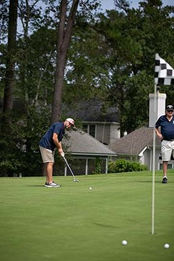 A golfer putts on the green at last year's event. - PHOTO COURTESY OF AMERICAN LEGION POST 135
