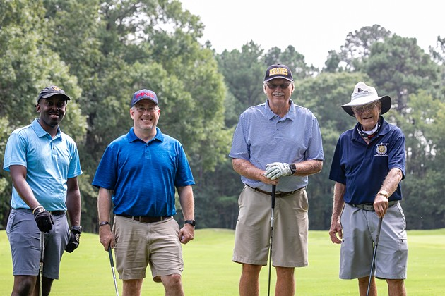 Golfers take a break on the course while competing in the third annual Warrior Golf Classic last year. The event this year will be held at Sourthbridge Golf Club. - PHOTO COURTESY OF AMERICAN LEGION POST 135
