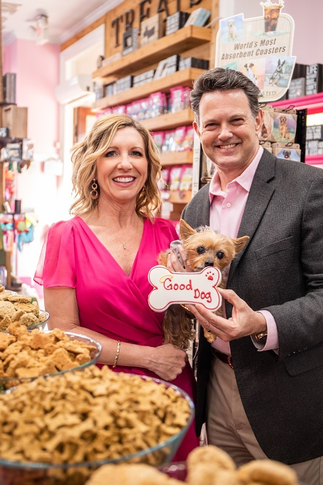 Michelle and David Pence announce their ownership of Woof Gang Bakery and Grooming. - PHOTOS COURTESY OF WOOF GANG BAKERY