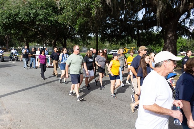 Participants walk the route at a previous year's Run for Heroes. - PHOTOS COURTESY OF THE 200 CLUB