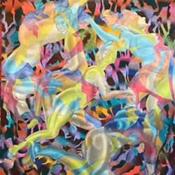 """Riffing on mannerism,"" oil on canvas, by artist Thomas Mitz. - PHOTO BY THOMAS MITZ"