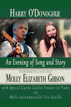 Tybee Post Theater Sets the Stage for Irish Folksinger Harry O'Donoghue and Fresh-Faced Molly Elizabeth Gibson. - PHOTO COURTESY OF TYBEE POST THEATER