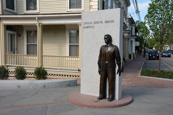 By commemorating a long-forgotten slave burial ground, Jerome Meadows's    public art park in Porstmouth, NH helped a town come to terms with its history.