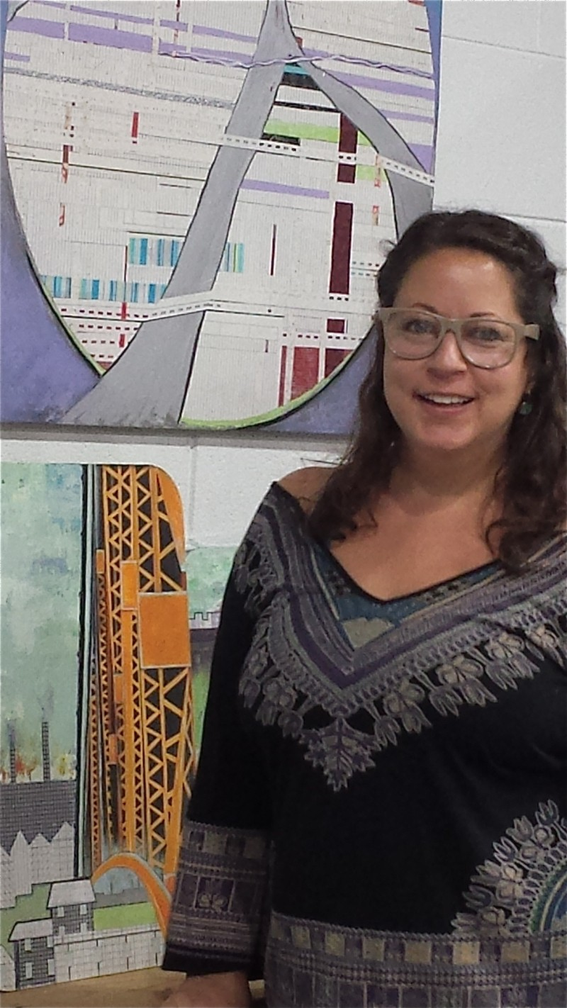 Artist Lisa D. Watson brings out the practical beauty and marvelous engineering of Savannah's bridges and extensions.