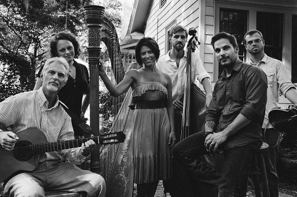 Uncommon Collective, Savannah's latest supergroup, features harpist Kristin King, vocalists Trae Gurley and J. J. Hobbs, mandolin player Cory Chambers, guitarist Bill Smith and bass player Linus Enoksson. - OBSCURA PHOTOWORKS